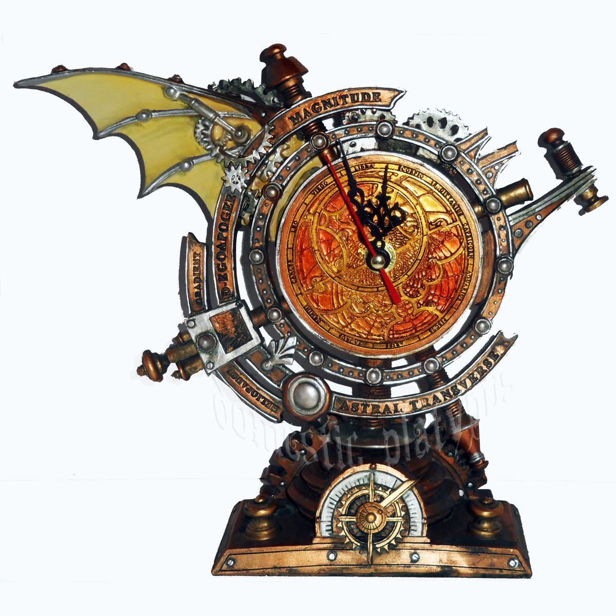 Alchemy STORMGRAVE CHRONOMETER Steampunk Mantle Clock https://t.co/a91gwHEcGo #homedecor #fantasy #steampunk #clocks