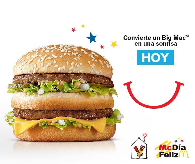 ¡Ayúdanos a ayudar y HOY 14 convierte un Big Mac en una sonrisa! #McDíaFeliz ¡Te estamos esperando! :D http://t.co/BxYZmJLZI2