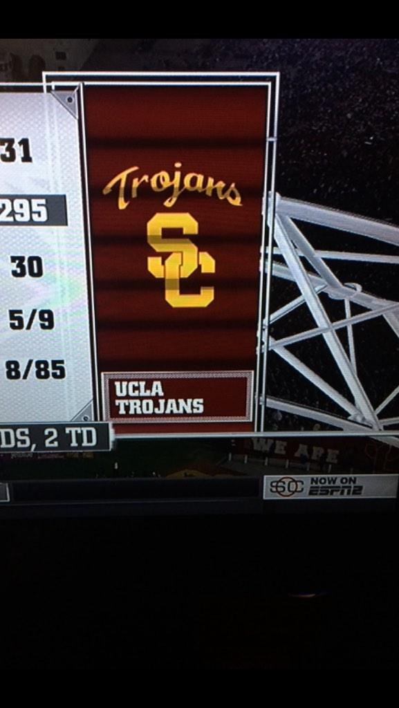 Nicely done @espn! More proof that all Trojans secretly want to be @UCLA Bruins. Look close.#truthHurts @BruinNation http://t.co/3MCLIx6IjL