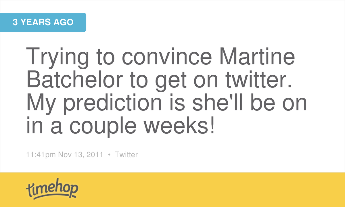 A prediction that came to pass. 3 years later and @MartineBatch is still at it! http://t.co/i044aRnIuK http://t.co/jB3NHxTcdE