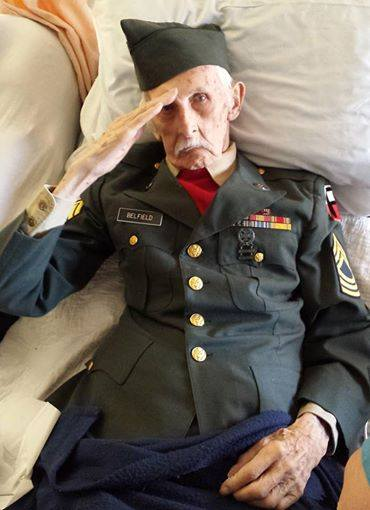 From his nursing home bed a #WWII Vet puts on his #Army uniform and gives a final salute before passing away. At 11p http://t.co/XcDKeWo6KC