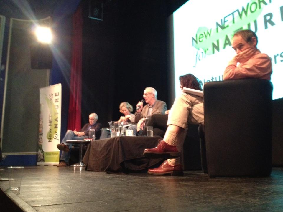 Panel discussion at #naturematters14 begins. Interesting questions ahead at @networks4nature http://t.co/wZd3BrjKYF