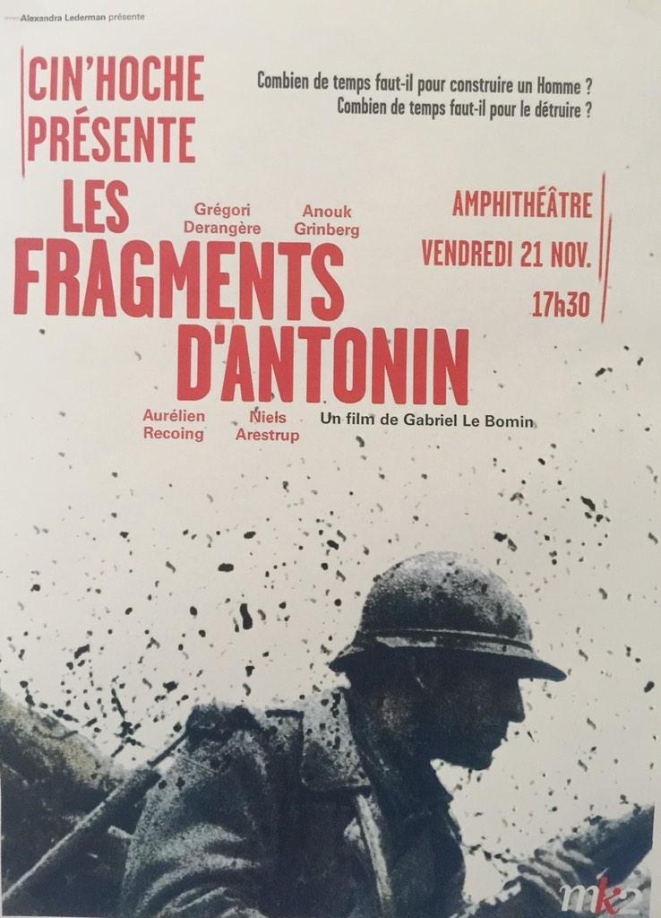 Les Fragments d'Antonin affiche