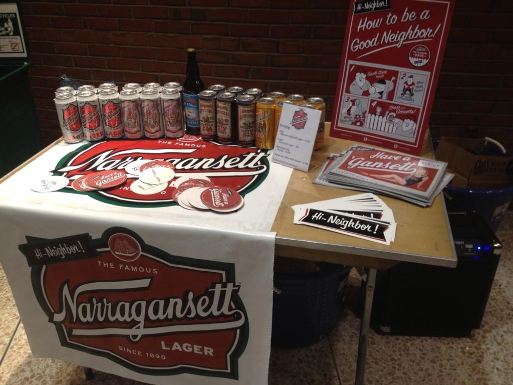 All set up & ready to #RocknRoll at the @Gansettbeer booth with music @bostonlocalfood #localcraftbrewfest http://t.co/e8IquDTRel