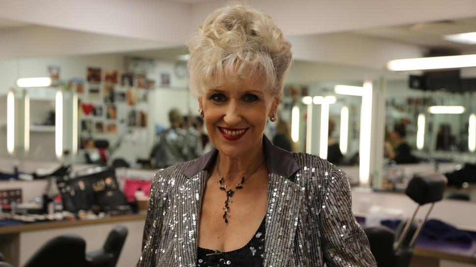 ANITA'S BACK! Now on #ITT @MarkWright_ & @karen_hauer join Zoe & guests Mel Giedroyc, @mrmichaelball & Anita Dobson. http://t.co/d5PU8alTpW