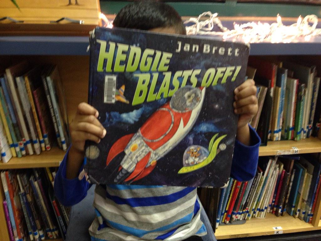 Hedgie blasts off. He builds a space ship and goes up in space. AB #gvlearn http://t.co/mHHL8CMFr3
