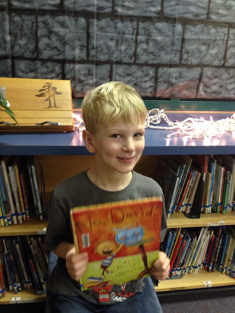 No  David. My mommy read this almost all. David had to clean up and he ate the cookies. His mom was mad. DE #gvlearn http://t.co/NCNuKl5GY8