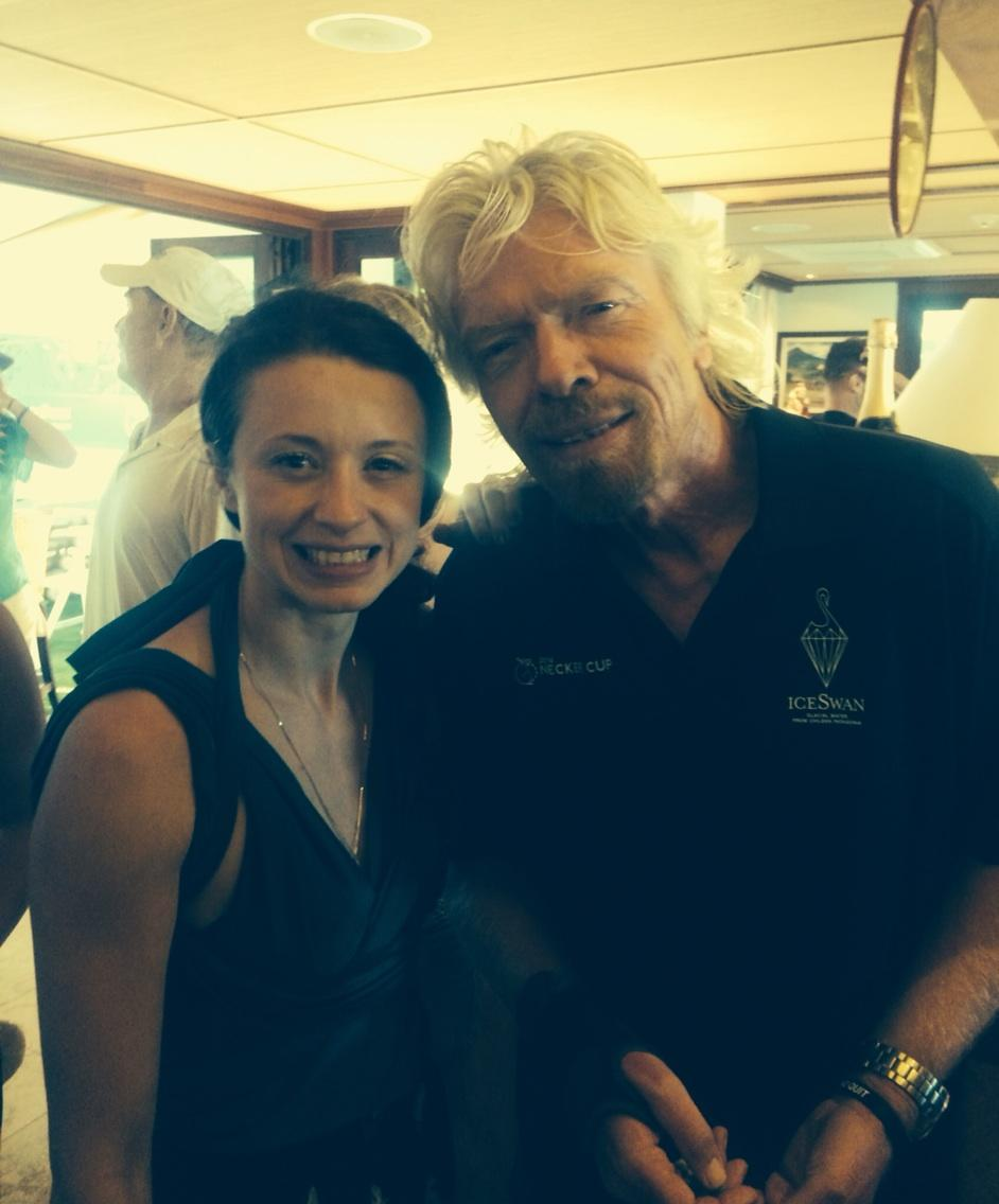 Daniela with Richard Branson