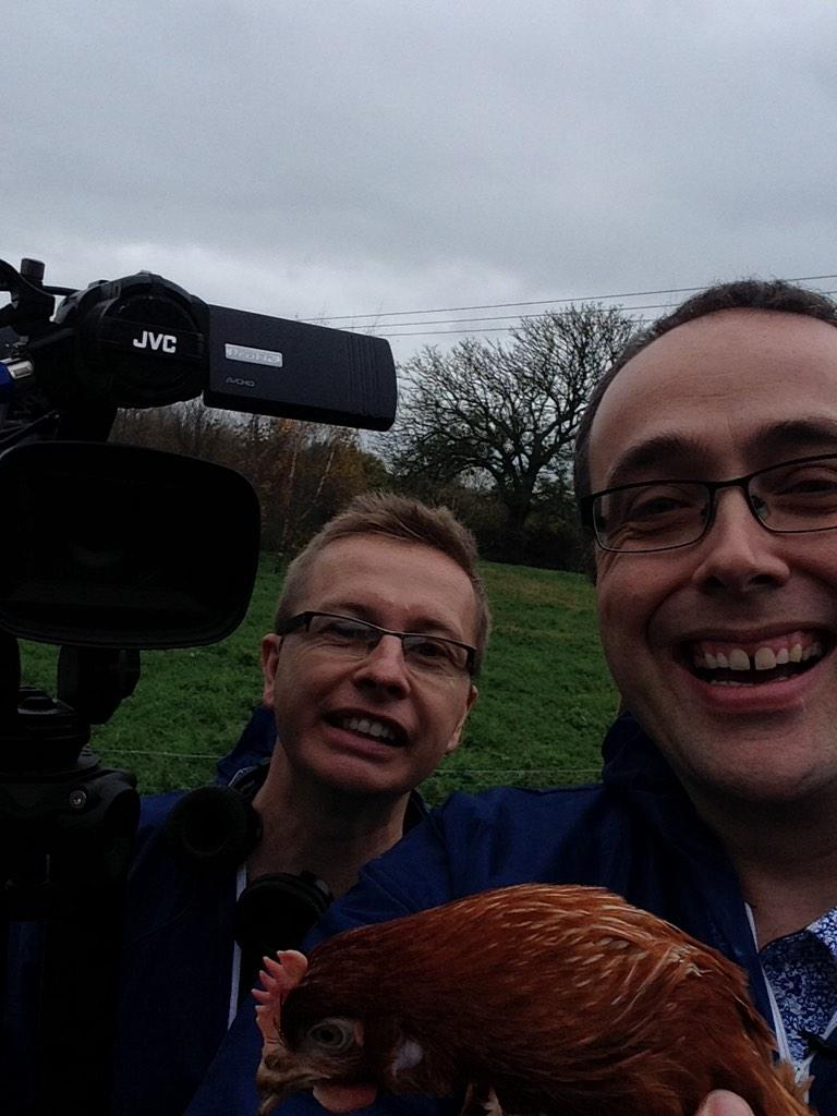 Filming today with @MustardTV - all we need is a camera and a chicken :) http://t.co/CC6UZW6uKp