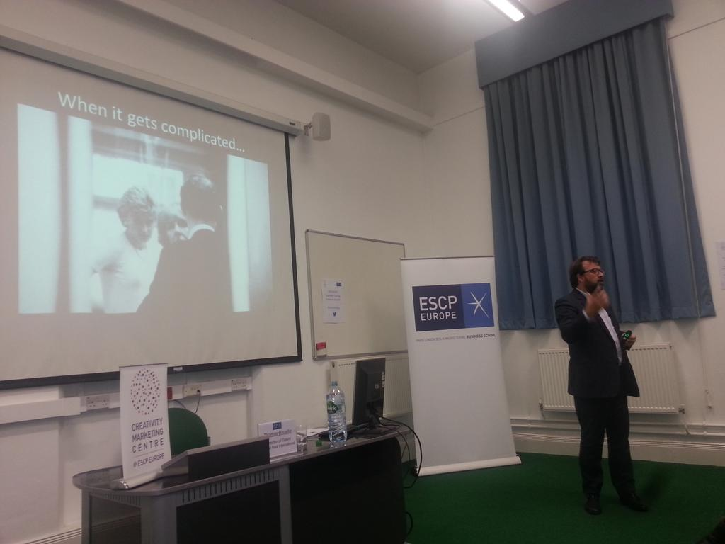 What to do when it gets complicated...space matters a lot for creativity #creativitymktg @ESCPeurope http://t.co/ahajDOswbt