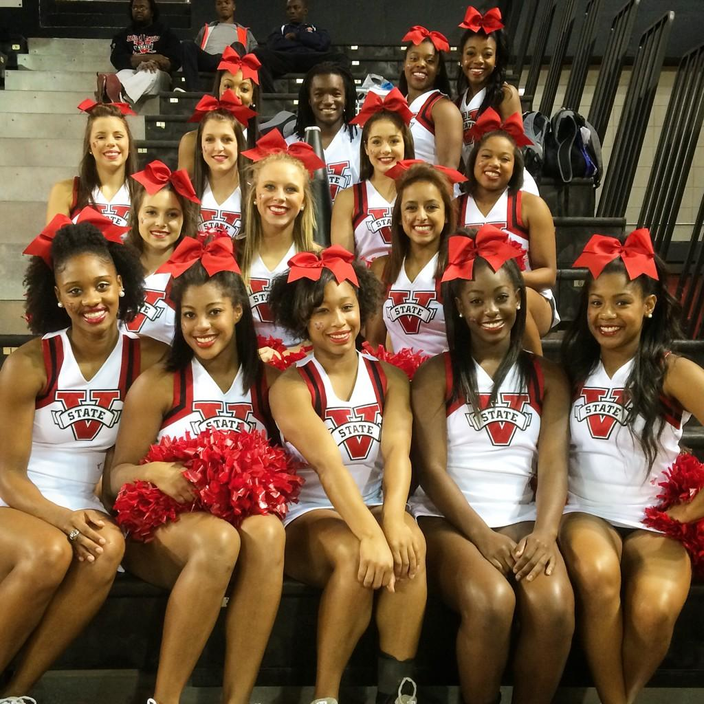 "Valdosta State Cheer on Twitter: ""Blazer Cheerleaders ready for the first basketball home game ..."