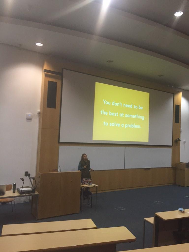 Great point at @inspireWIT via @missgeeky 'You don't need to be the best at something to solve a problem' #inspirewit http://t.co/s2cx7tSgHk