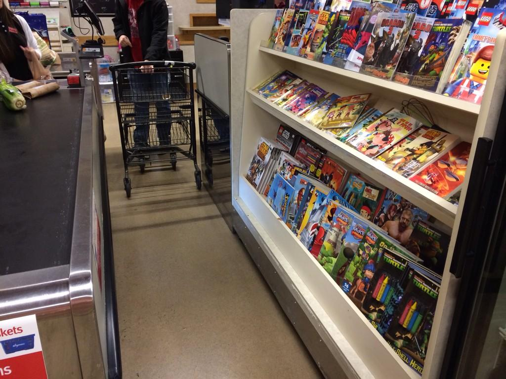 The checkout lane at @Wegmans has children's books instead of candy. I love it! http://t.co/vPGhRtpUuA