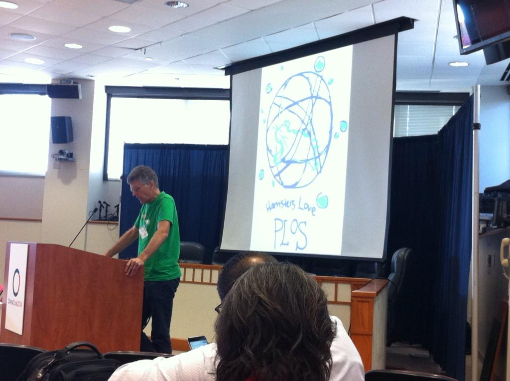 Patrick Brown delivering the opening keynote at #opencon2014 http://t.co/r1wDEyBruZ