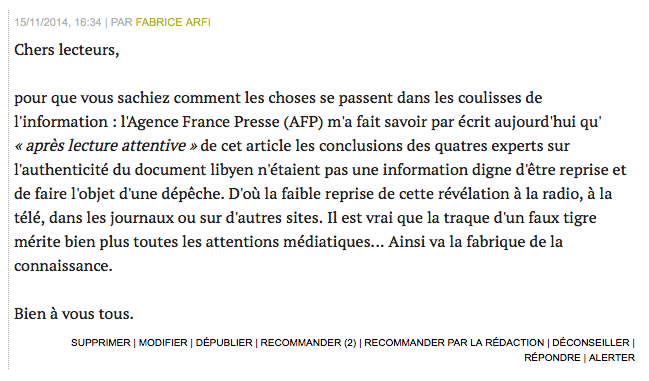 Sarkozy/Kadhafi: je me suis permis d'informer nos lecteurs dans les comm' de cet article (http://t.co/1odhFT8Nqv …): http://t.co/c3rQPioDx1