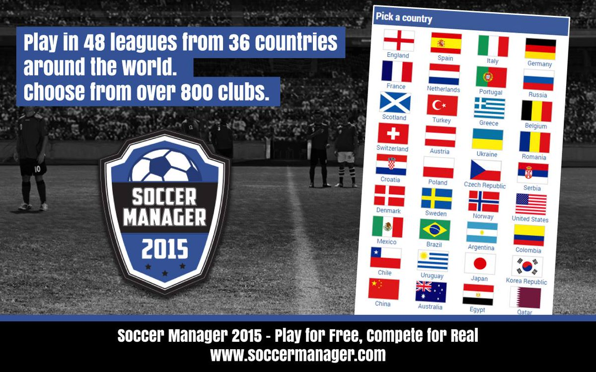 Soccer Manager 2015 - choose from over 800 clubs from 48 different leauges. RT for a chance to win 25k SM Credits. http://t.co/7hqwVs19Q6