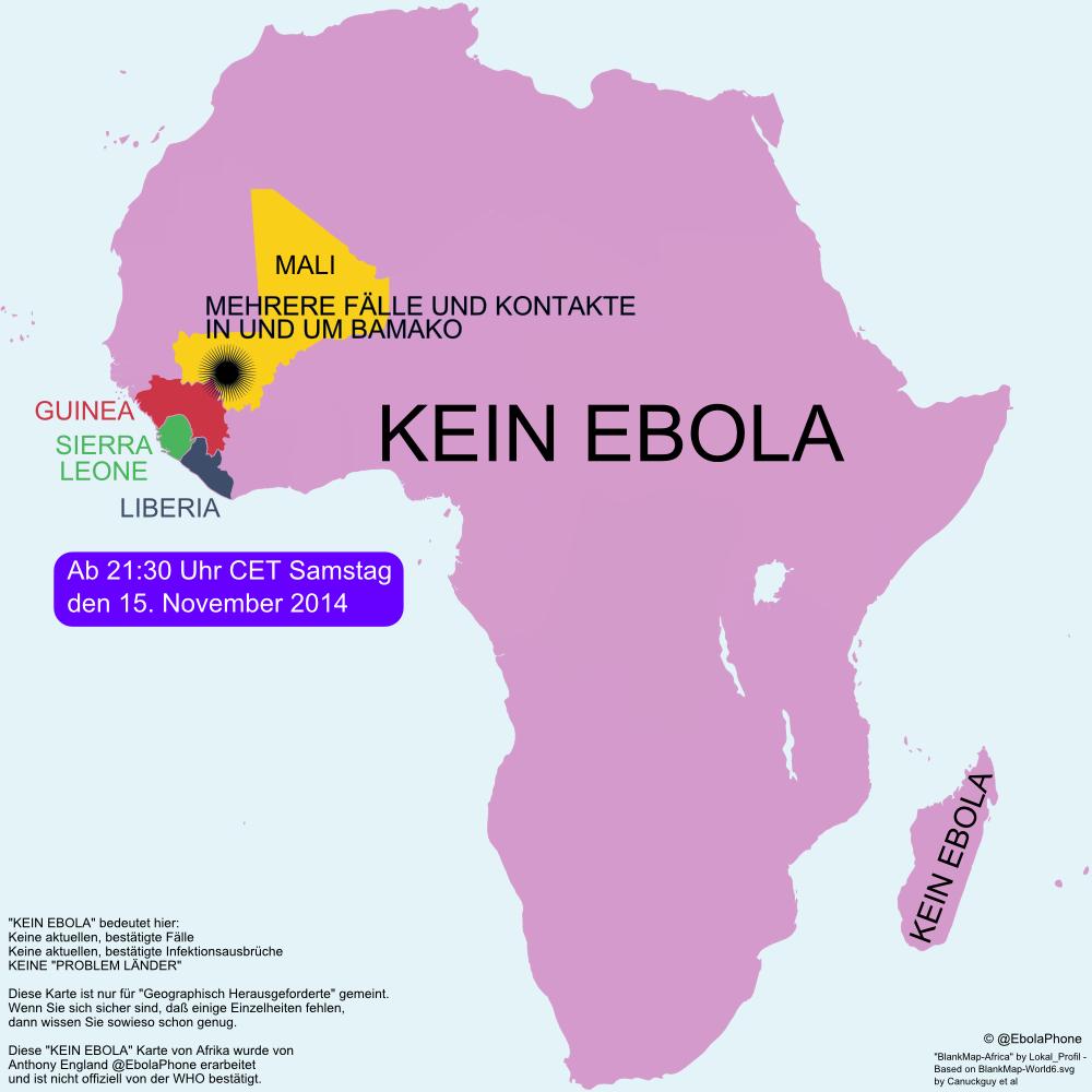 Afrika Karte Deutsch.Anthony England On Twitter German Deutsch Ebola Karte Von