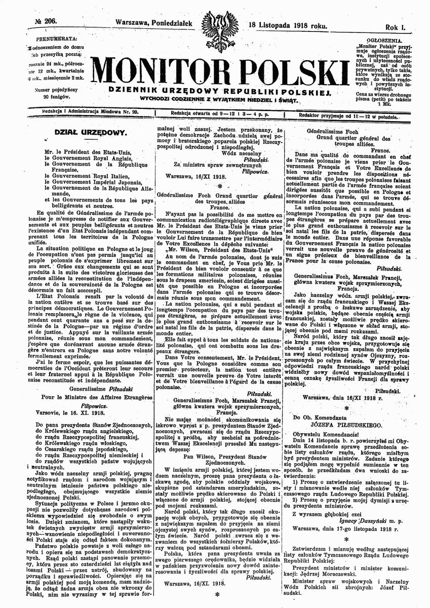 Historia Dyplomacji على تويتر 96 Lat Temu 16 Listopada