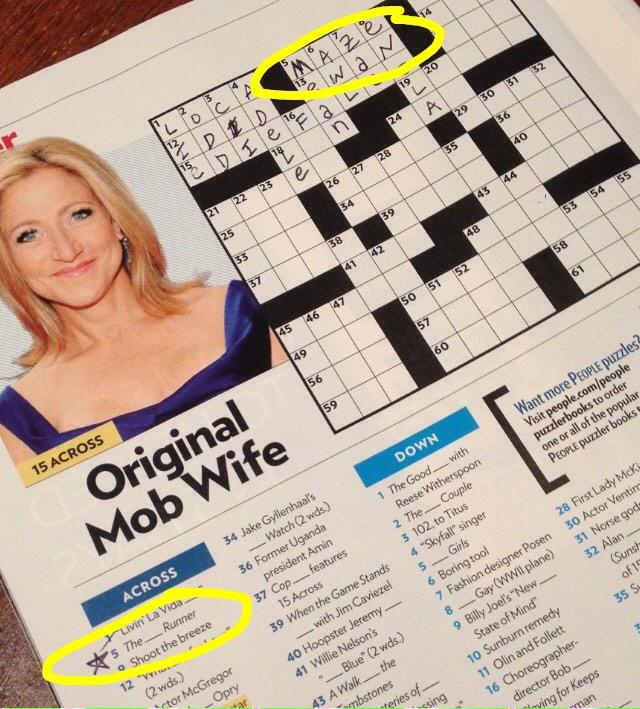 Thanks to @jamesdashner 5-Across in the People mag crossword was a breeze http://t.co/ALDQZRVanS