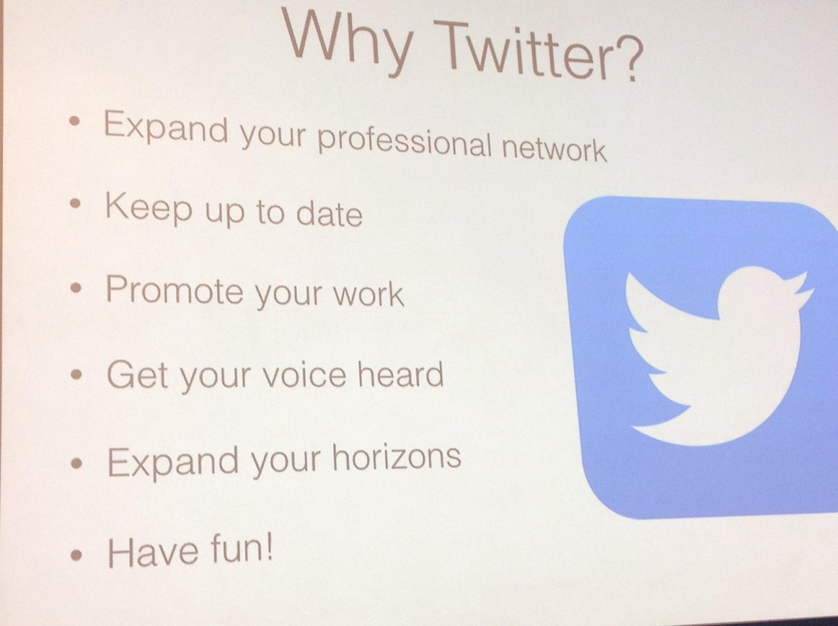 Why use Twitter - refresh, re-engage, keep up to date, expand my horizons, grt fun #acrsocmed #acr14 @RonanTKavanagh http://t.co/W44jKz0wWc