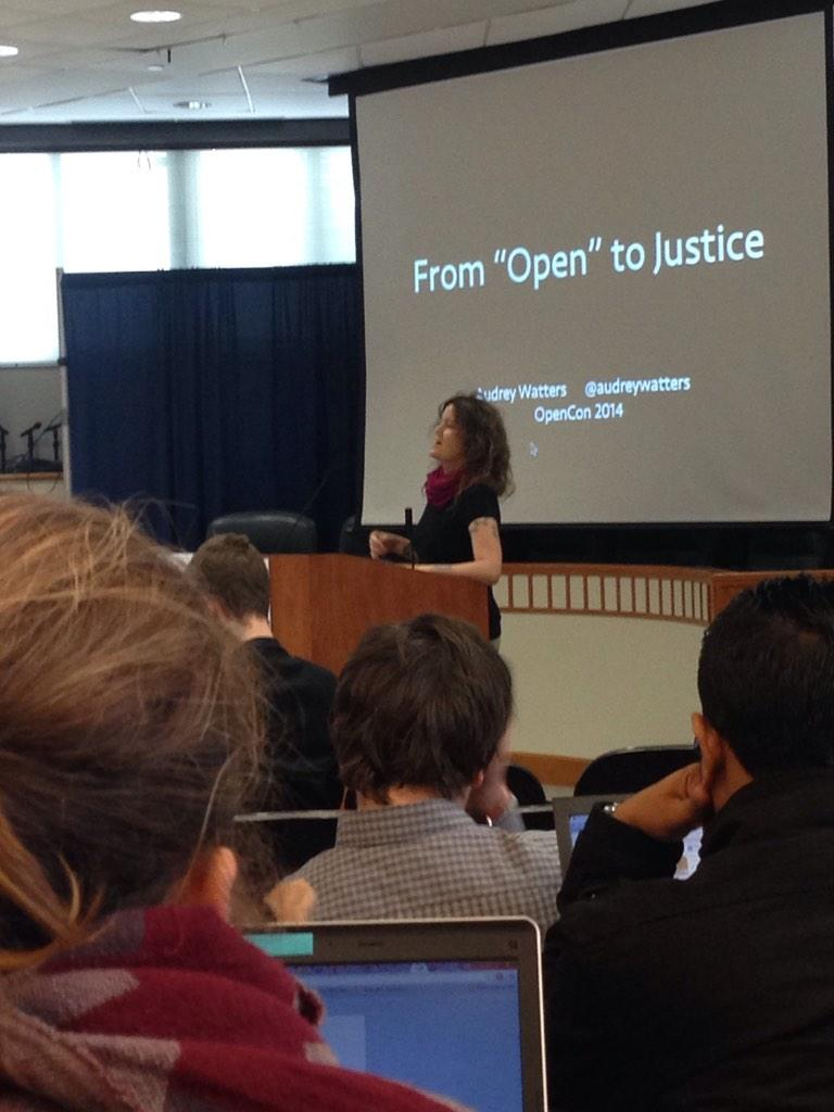 Day 2 begins! @audreywatters on the importance of context when openly sharing info #opencon2014 http://t.co/jsXszWpXJp