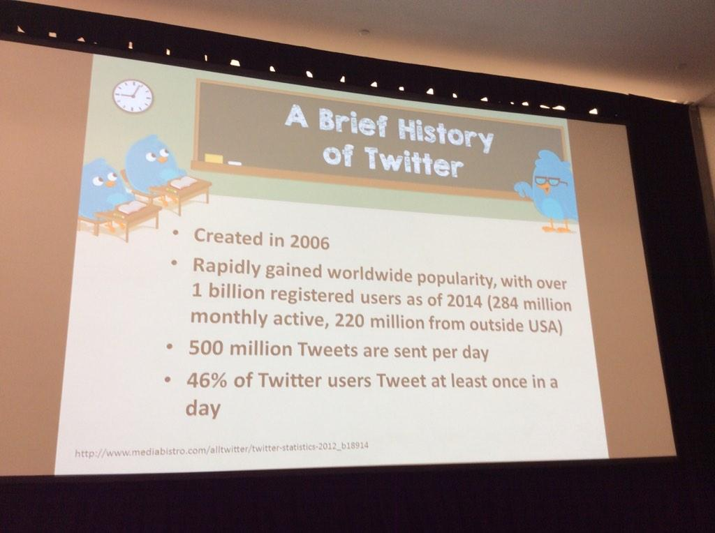 #ACR14 #ACRSocMed @RheumPearls Chris Collins, MD speaking about the history of twitter http://t.co/9nsi8ILaWV