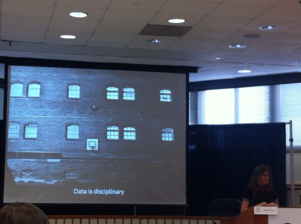 """""""Data is disciplinary"""" Audrey Watters in #opencon2014 http://t.co/GYGFkSAaX6"""