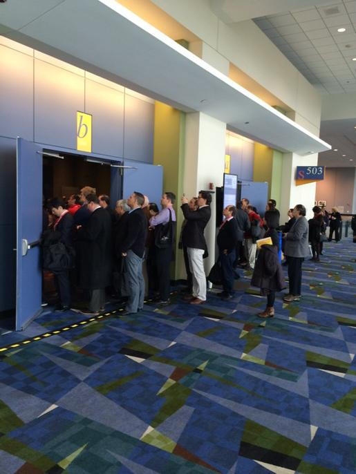 A lecture on drugs at #aha14. Overflowing. People taking pics. The session on exercise is near empty. #TheProblem http://t.co/hOjI9tfhdx