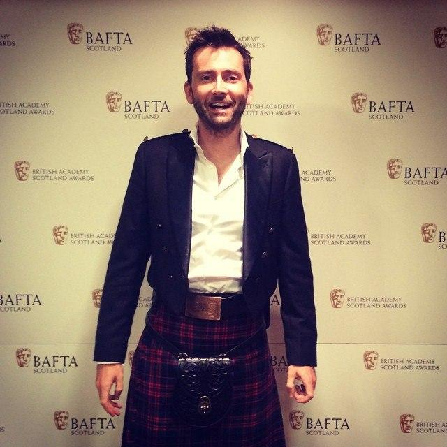 David Tennant at BAFTA Scotland Awards Ceremony - Sunday 16th November 2014