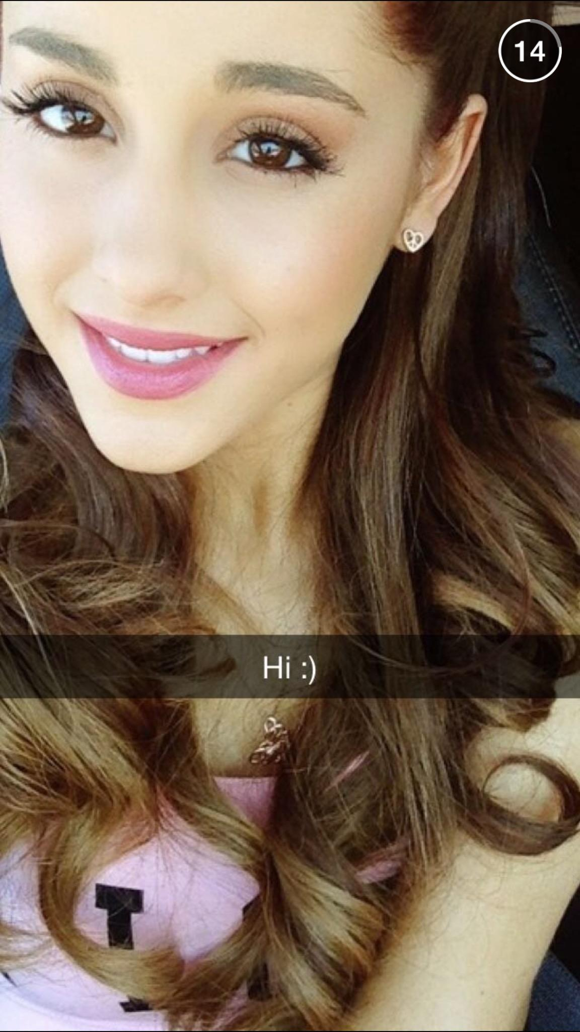 "Celebrity Twitter Pics: Celebrity Snapchats On Twitter: ""Found Ariana Grande's"