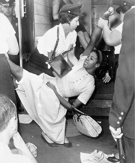 "My mom in '63, while the police were ""just doing their job."" Break the internet? Break the system. #Ferguson http://t.co/qXd6sZoo2U"