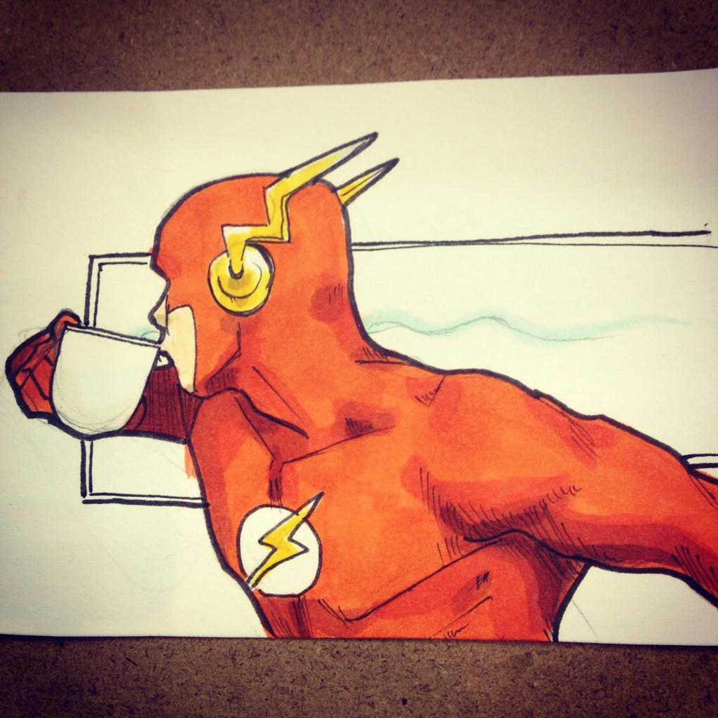 Coffee to go... #GeekGalaxyCon #FLASH http://t.co/ZFGPanzUPs