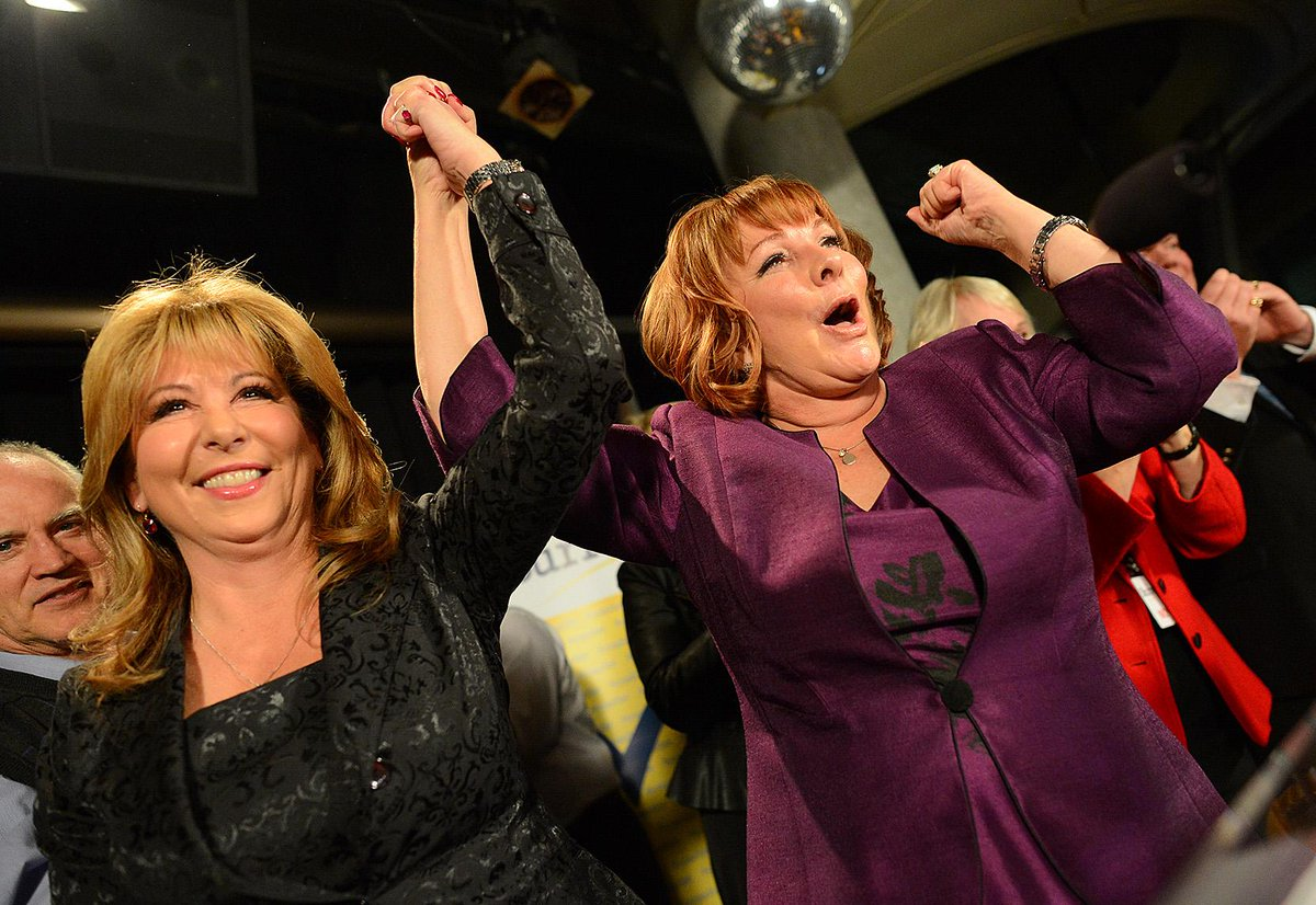 Alrighty, just one more celebratory pic of @LindaHepner and @MayorWatts  @CityofSurrey http://t.co/7WXJV1kF92
