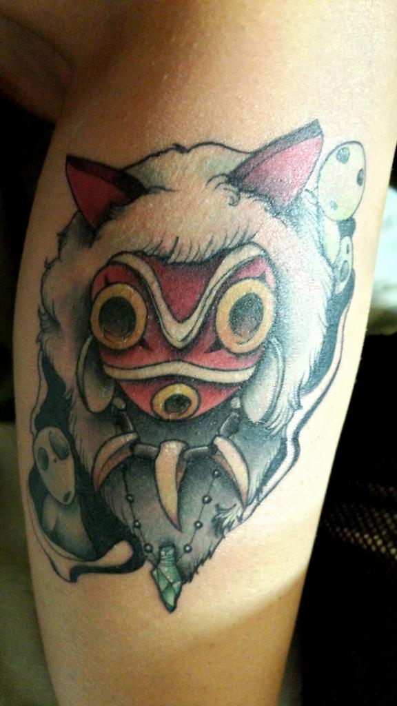 Alysha Spencer On Twitter My New Tattoo Princessmononoke Wolfgirl Mask San Kodama Tattoo Legtattoo Love Ink Http T Co J4m46njveg