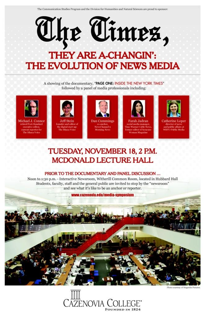 "Thumbnail for 2014 Media Symposium ""The Times They Are A-Changin': The Evolution of News Media"""