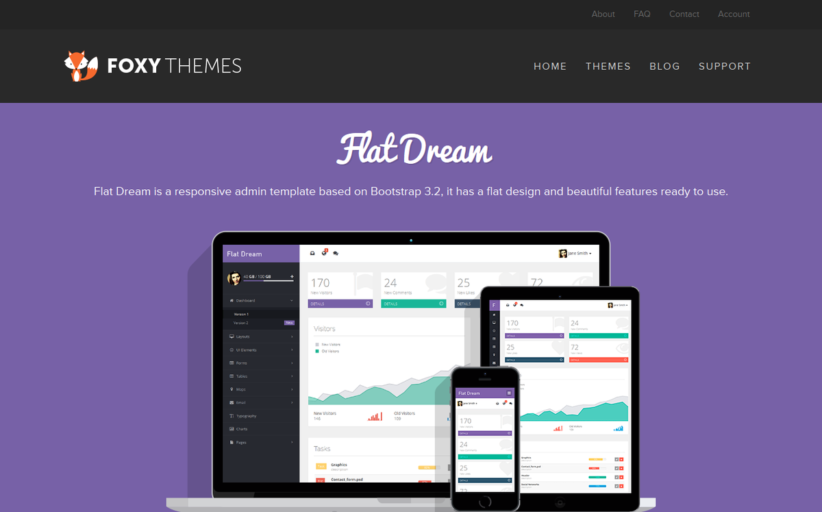 Foxy Themes On Twitter Check Out Our Admin Template Flat Dream Just What You Need For Your Next Backend Project Http T Co Asgo1mszf4