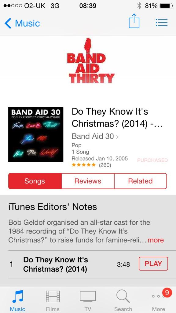 #BandAid30 Sir Bob Geldof is the man! You can be too if ya buy this. Unless you're a woman, then you're the woman ! http://t.co/5D4D0QBr50