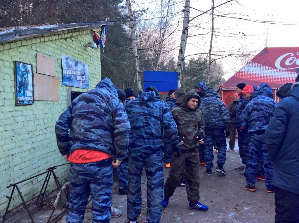 Игроки «Спартака-2» сыграли в пейнтбол (Фото)