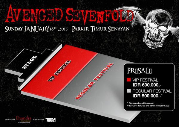 venue #a7xjkt lokasi konser Avenged Sevenfold Jakarta