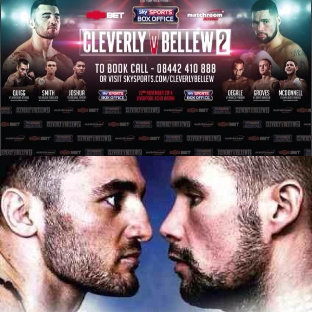 It's FIGHT WEEK!! 5 days to go...can NOT wait 4 this unbelievable @MatchroomBoxing bill! What a line up! #ClevBell2 http://t.co/gOddvziz0L