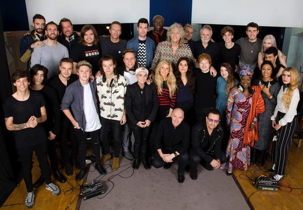 Band Aid 30's 'Do They Know It's Christmas?' raises £1 million in the first 5 minutes! http://t.co/4boOkpnt9i http://t.co/cXAEZcOh7y