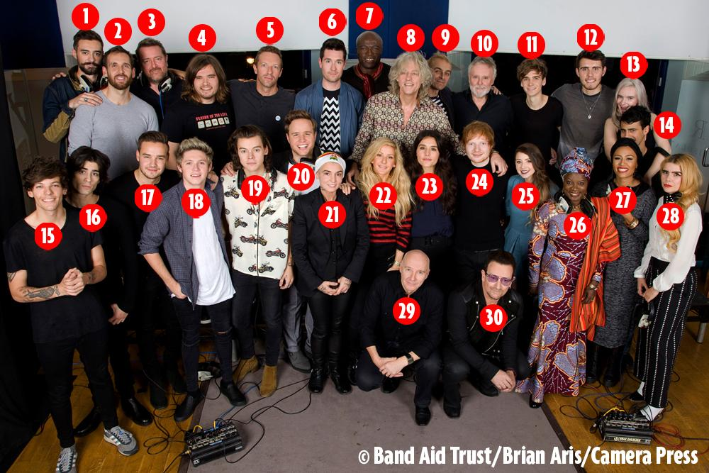 Band Aid 30: Who's who in line-up as One Direction, Bono, vloggers and more come together http://t.co/LuwwLRay18 http://t.co/YjTrXD5CZP