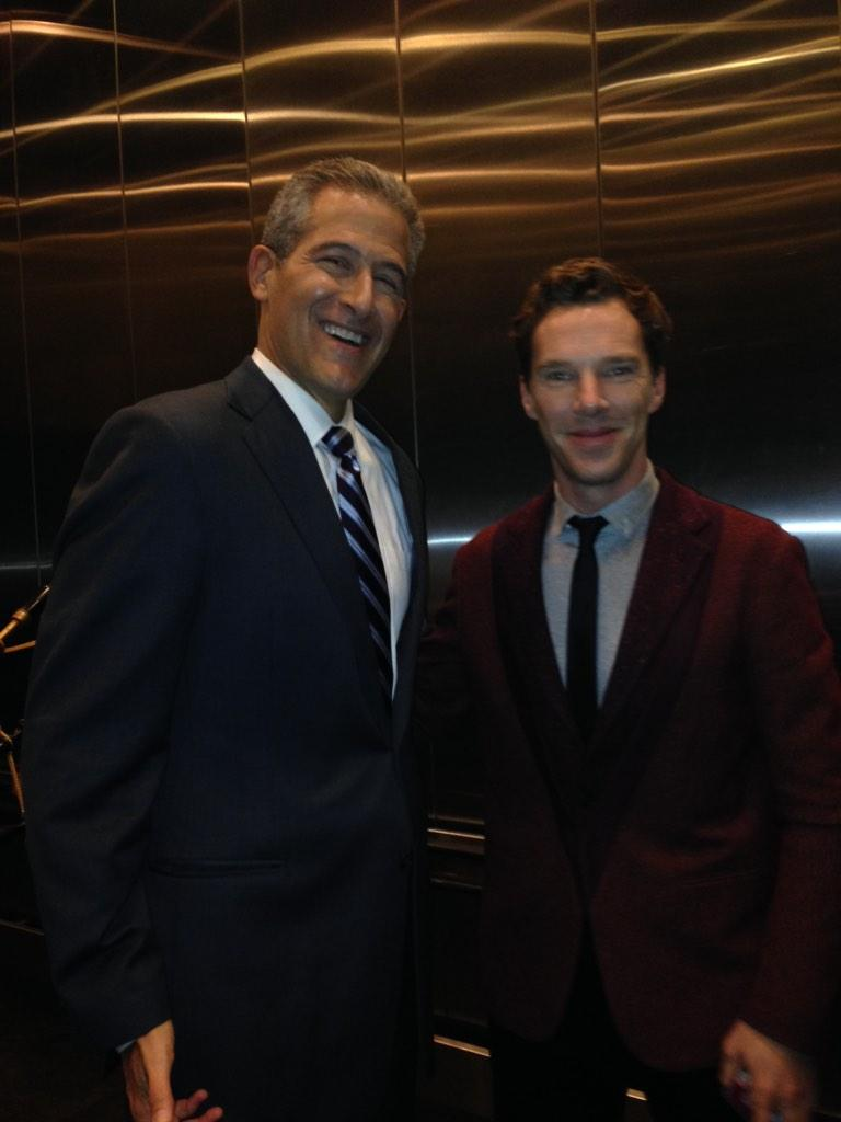 Met one of my favorite actors, Benedict Cumberbatch at @GMA. Can't wait to see his new movie, The Imitation Game. http://t.co/jF4peud7lb