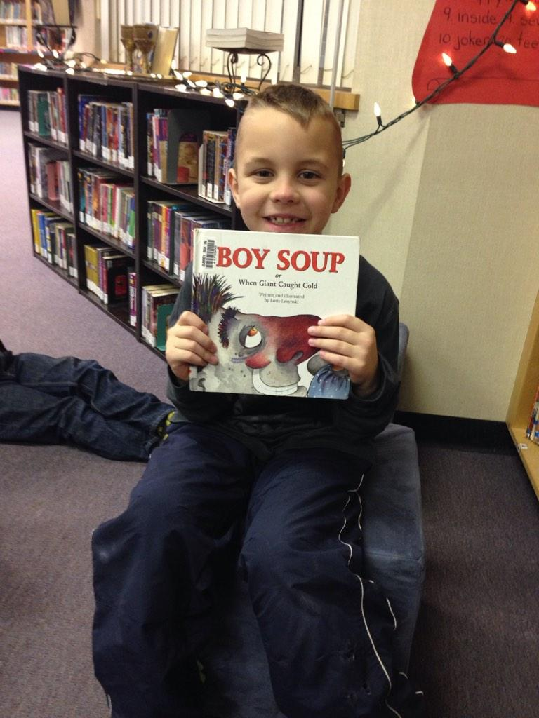 Boy Soup.  I was not crazy about it because I'd accidentally read it before  RK #gvlearn http://t.co/jhNHcUbUG9