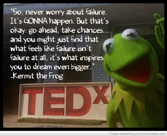 Here's some advice from a recent @TEDx talk given by @KermitTheFrog! #MotivationMonday http://t.co/yBBF6aPoTf