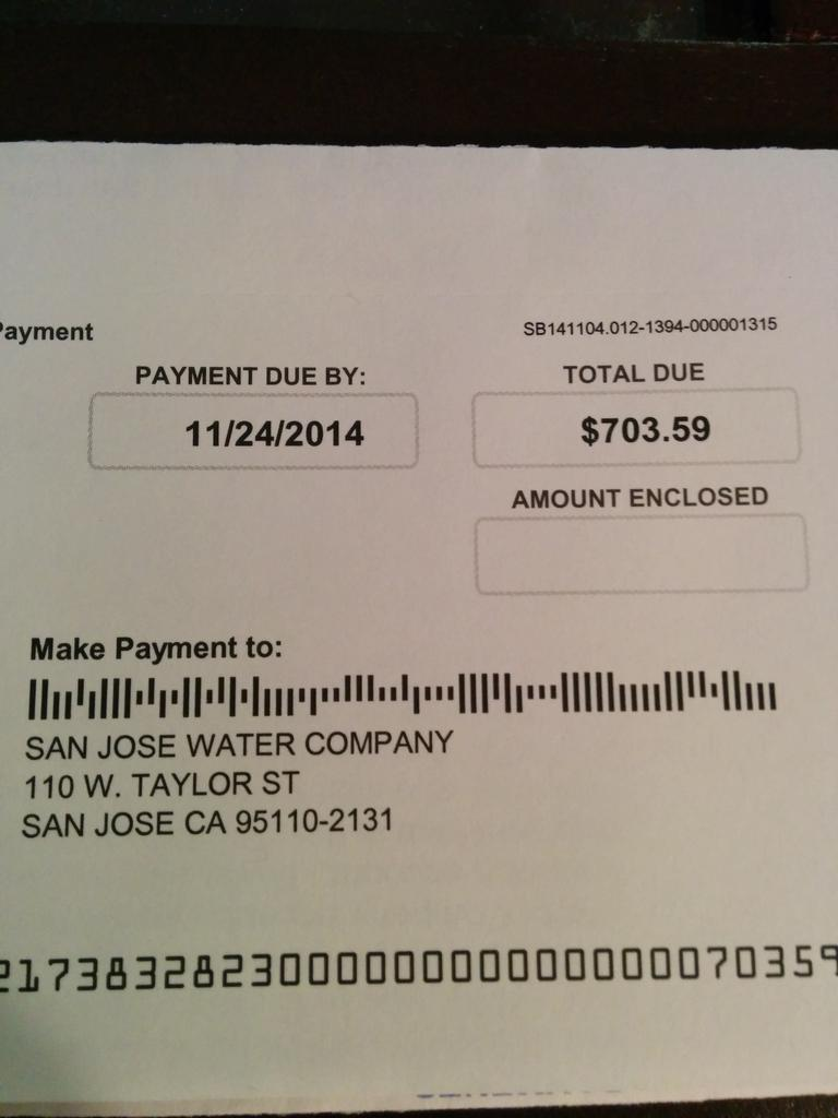 Dear everyone freaking out about your water charges, I just got my first California water bill. http://t.co/c3spSpwFzM
