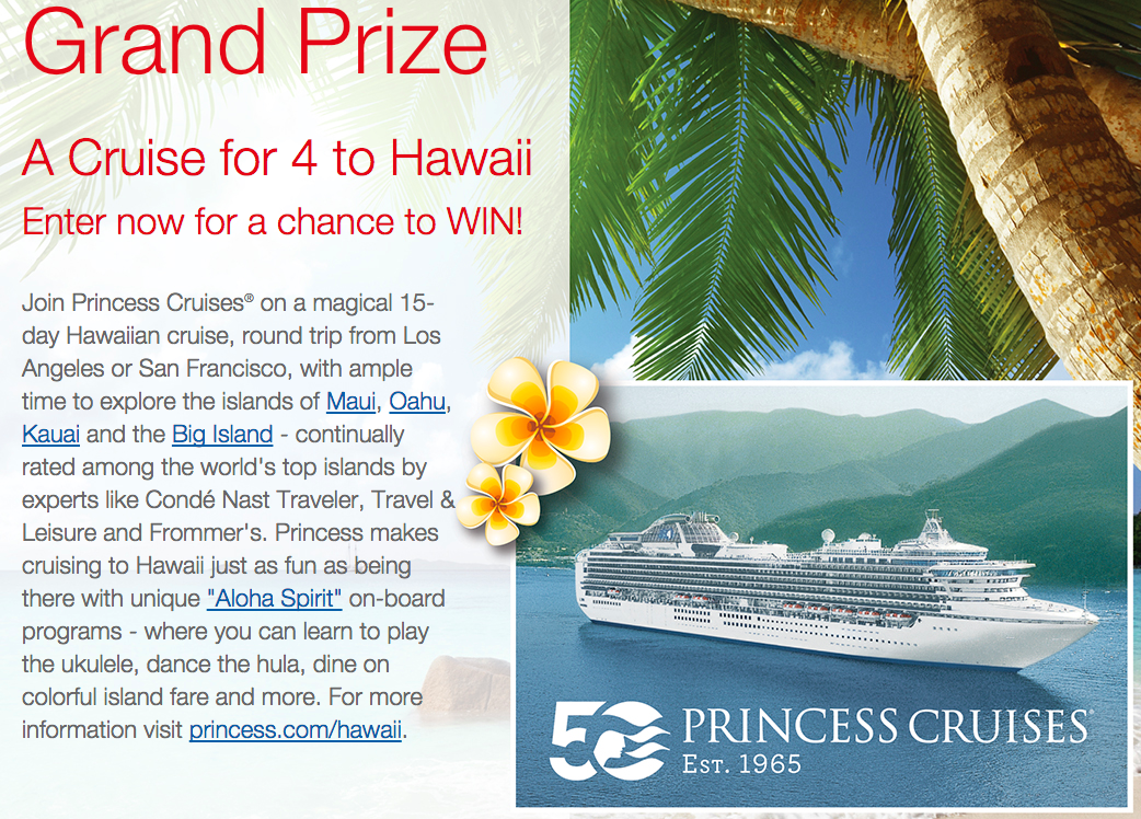 Who wants to go to Hawaii? RT to #Enter to win a Cruise for 4 to Hawaii aboard @PrincessCruises #DoleSweeps http://t.co/mTJVo1DG1w