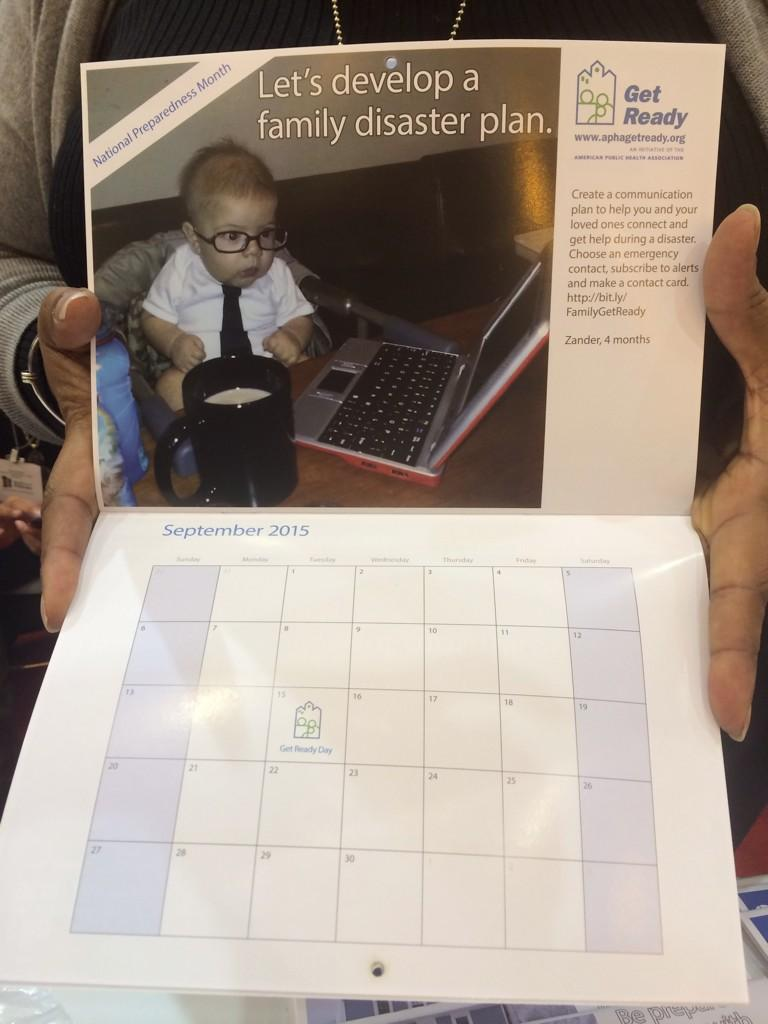 Less than 1 hour left at the expo today. Stop by the APHA @GetReady booth for your Tips from Tots calendar #APHA14 http://t.co/pFpUFPeR9M