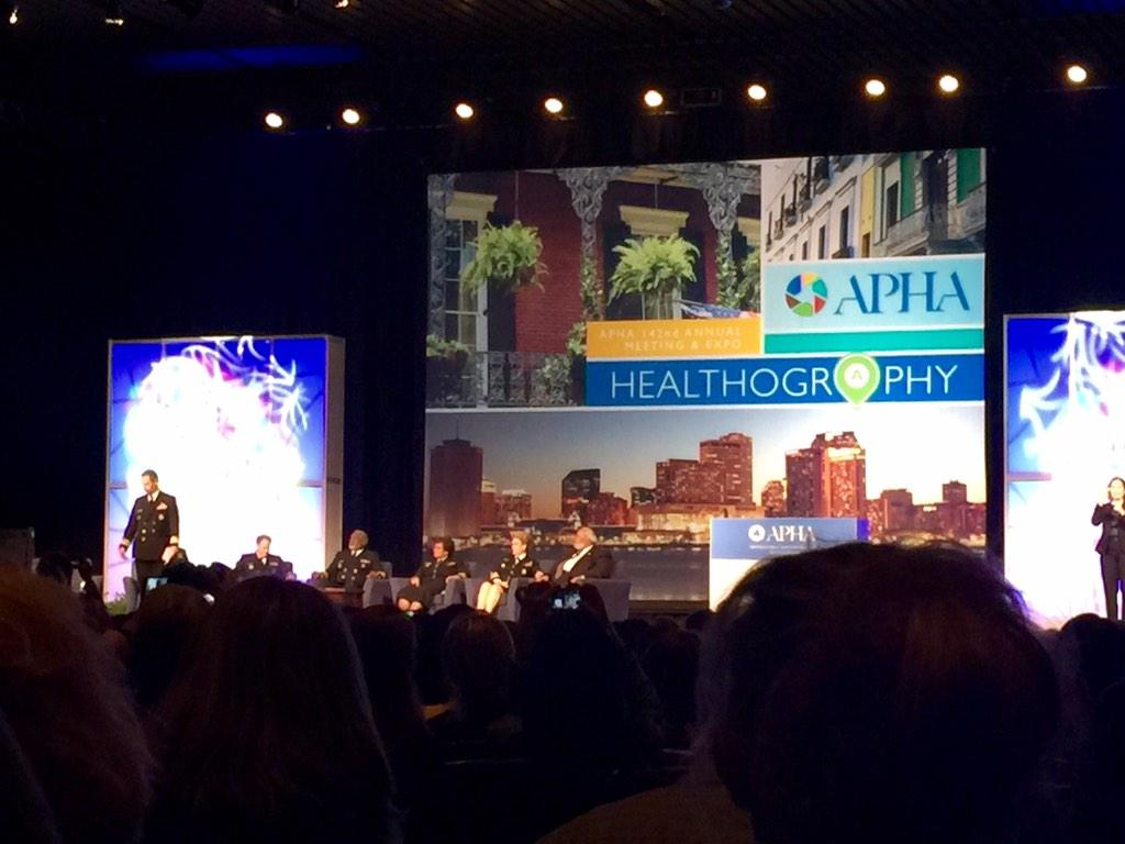 A panel of Surgeon Generals...woah?! #APHA14 http://t.co/GE8JXLt3ZM