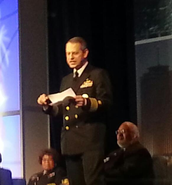 Acting SG preaches - Surgeon generals have huge public health impact on the nation. @APHAAnnualMtg #apha14 @CUNYSPH http://t.co/OyzRyX5DAR